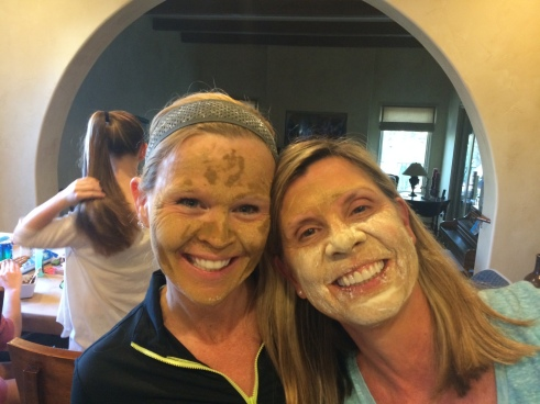 Homemade Mud Facials with my Friend, Candy Barnes