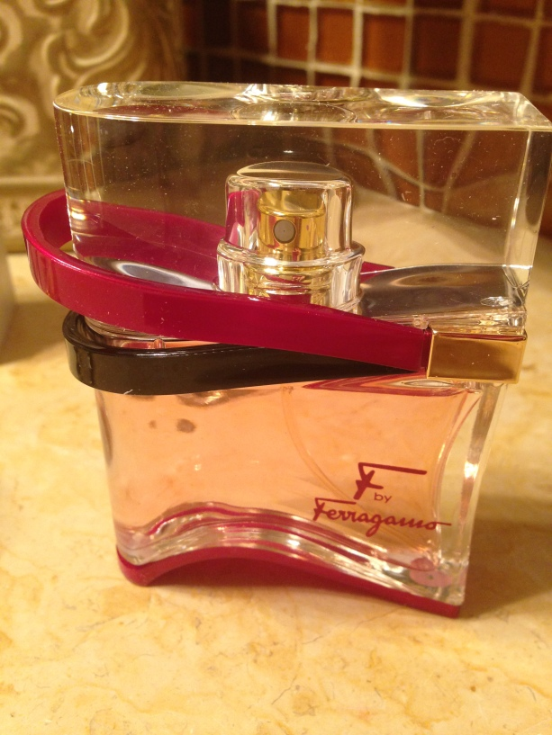 A unexpected surprise from my hubby. He hid it among my other perfumes.