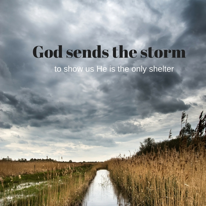 God sends the storm